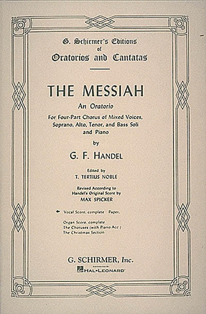 The Messiah By Handel, George Frideric